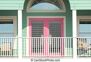 Colorful porch area of a Pensacola, Florida home - A...