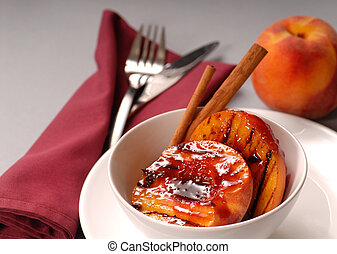 Grilled peaches Stock Photos and Images. 394 Grilled peaches pictures ...