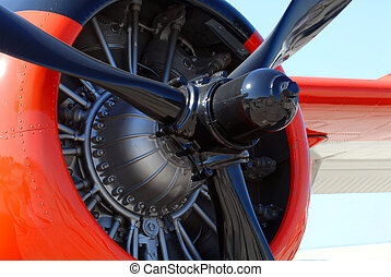 The propeller of a world war II airplane - The propeller and...