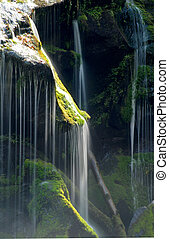 Close up of a waterfall in tennessee