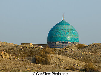 Dome of mosque and desert sand, Bukhara, Uzbekistan