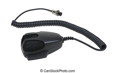 Hand Microphone and Cable - Hand Microphone used to...