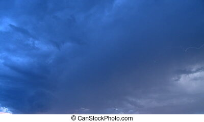 Lightening in clouds 1 - Lightening in storm clouds with...