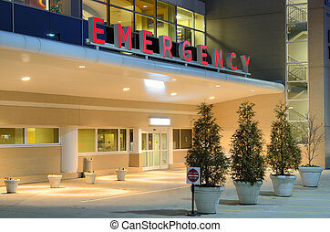 Hospital - Emergency room entrance at a hospital.
