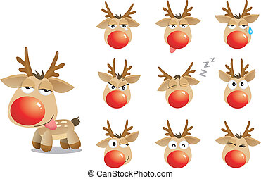 cartoon xmas elk