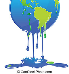 global warming - illustration of global warming with globe...
