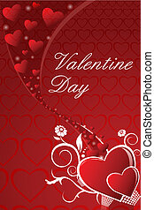 abstract valentine card - illustration of abstract valentine...