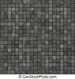 large 3d render of a smooth gray stone mosaic wall floor
