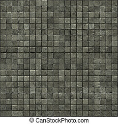 large 3d render of a smooth speckled gray stone mosaic wall floor