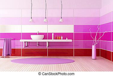 bright colored bath