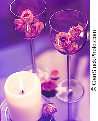 goblets and candle celebrities card