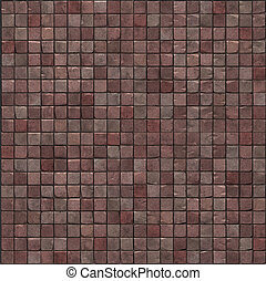 large 3d render of a smooth pink stone mosaic wall floor