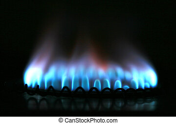 Fuel and Power Generation - Natural gas from inside the blue...