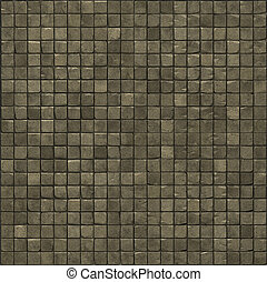 large 3d render of a smooth beige stone mosaic wall floor