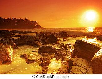 Sunset on Sri Lanka