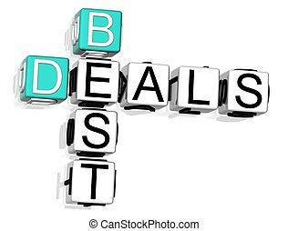 Get Best Deals Crossword - 3D Get Best Deals Crossword text...