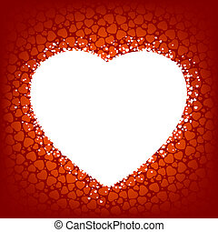 Love vector background made from red hearts. EPS 8 vector...