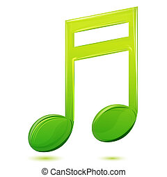 musical text - illustration of musical text on white...