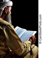 musulmán, lectura, Corán