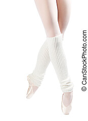 legs in ballet shoes 4 - legs in ballet shoes on a white...