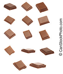 chocolate with candies isolated on a white background