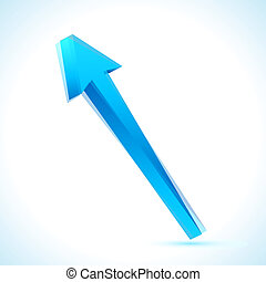 Arrow - illustration of upward arrow on isolated background