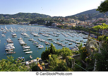 Lerici - View of Lerici, Liguria, Italy, from a vantage...