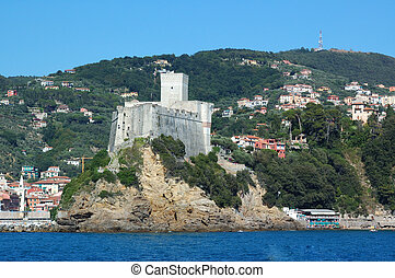 Lerici, Italy - Lericis castle from the sea