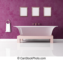 purple bathroom - classic purple bathroom with fashion...