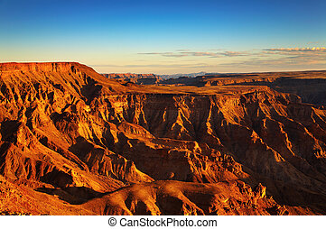 Fish River canyon- the second largest canyon in the world,...