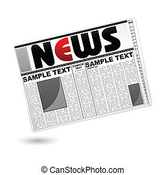 News Paper - illustration of news paper on isolated white...