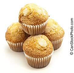 muffins - sugary muffins isolated on a white background