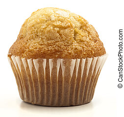 single muffin isolated on a white background