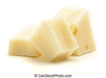 semi hard cheese isolated on a white background