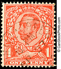 Postage Stamp - UNITED KINGDOM - CIRCA 1912: British one...