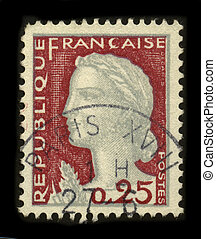 Postage stamp. - FRANCE - CIRCA 1927: A stamp printed in...