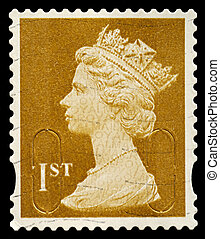 Postage Stamp - UNITED KINGDOM - CIRCA 2010: An English Used...