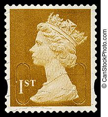 Postage Stamp - UNITED KINGDOM - CIRCA 2010: An English Used...