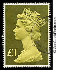 Postage Stamp - UNITED KINGDOM - CIRCA 1977 to 1987: An...