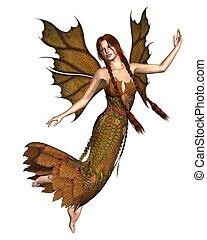 Fairy Autumn Spirit - 2 - Fairy spirit dressed in Autumn...
