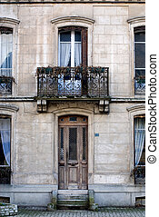 Old House - The facade of an old house, France