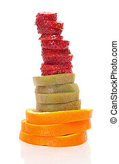 fruit slices - some fruit slices, as strawberry, orange and...