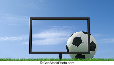live soccer - concept of live soccer on full high definition...