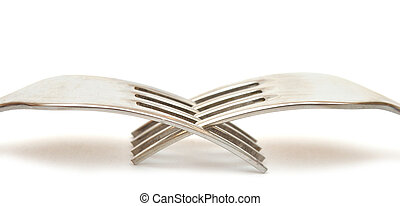 forks macro isolated on white