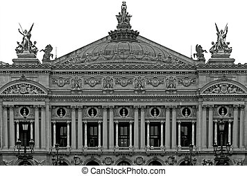 Palais Garnier (Opera House), Paris, France - The facade of...