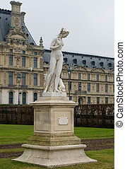 Nymphe Statue, Paris, France - Nymphe Statue, in the Jardin...