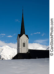 Church Spire - An alpine church, Switzerland