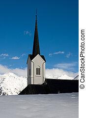 Church Spire - An alpine church, Switzerland