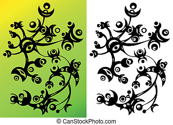 abstract flower ornament