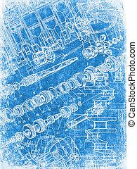grunge blueprint texture